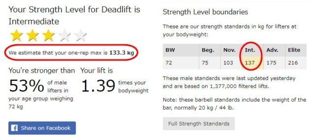 デッドリフト マックス 重量